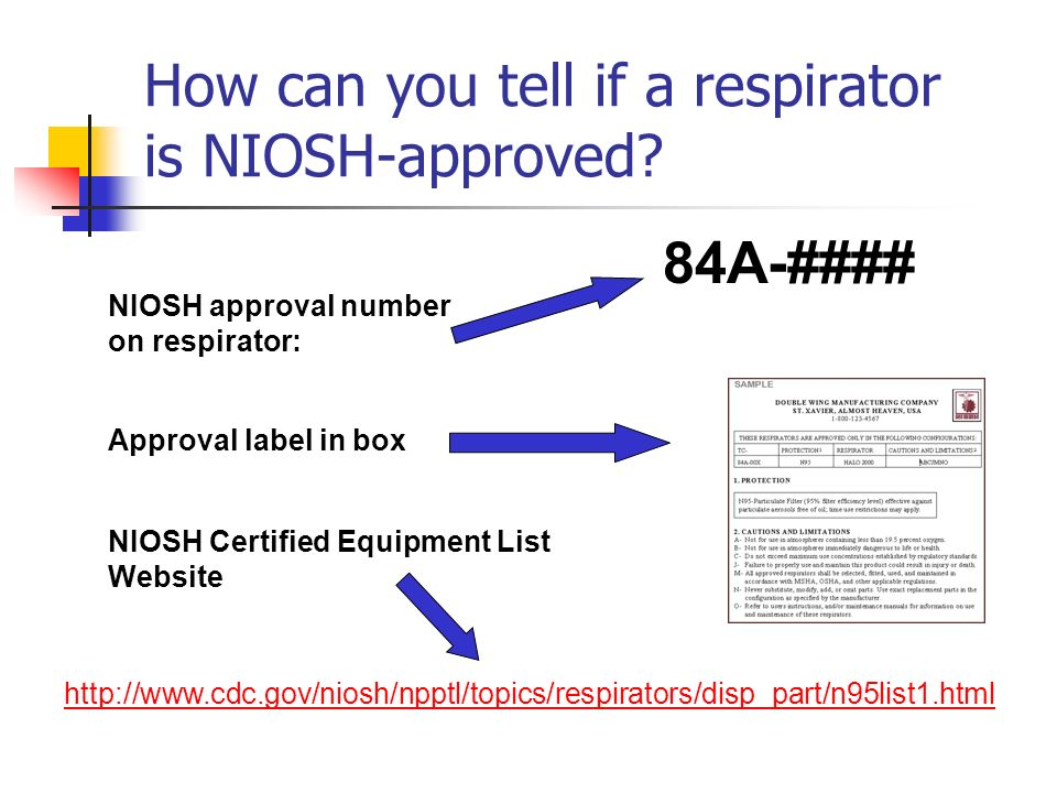 How can you tell if a respirator is NIOSH-approved