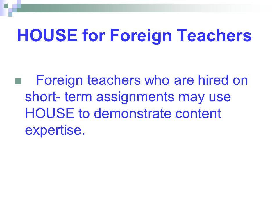 HOUSE for Foreign Teachers