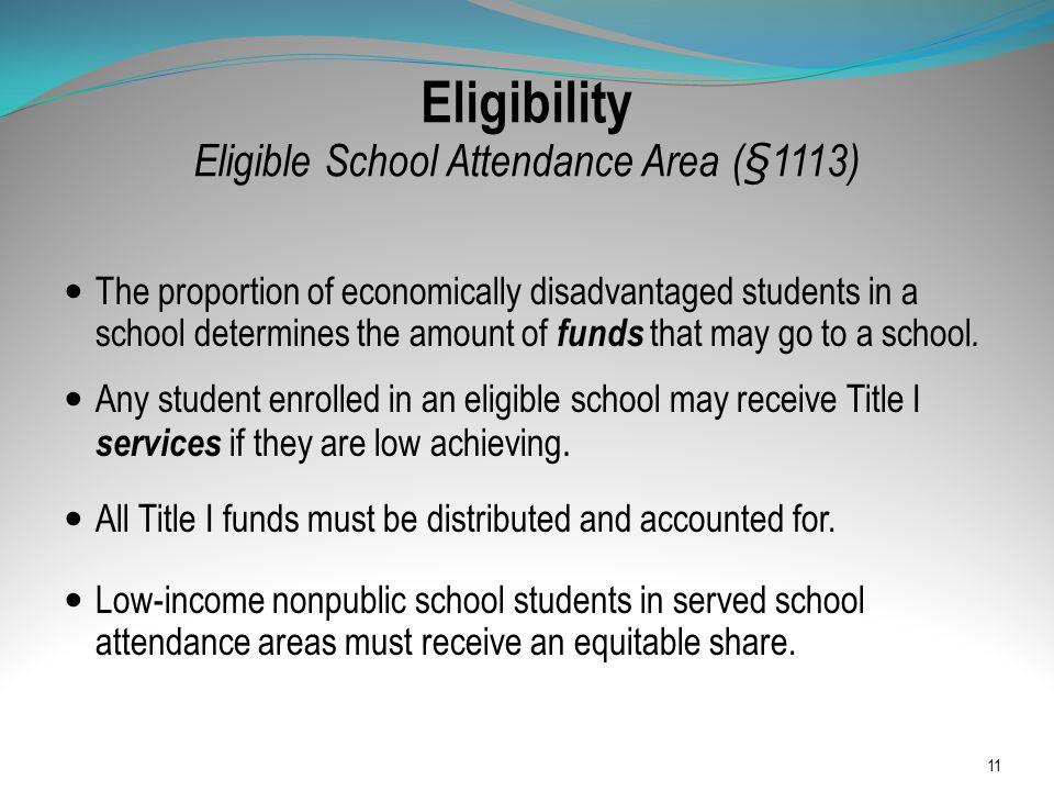 Eligibility Eligible School Attendance Area (§1113)