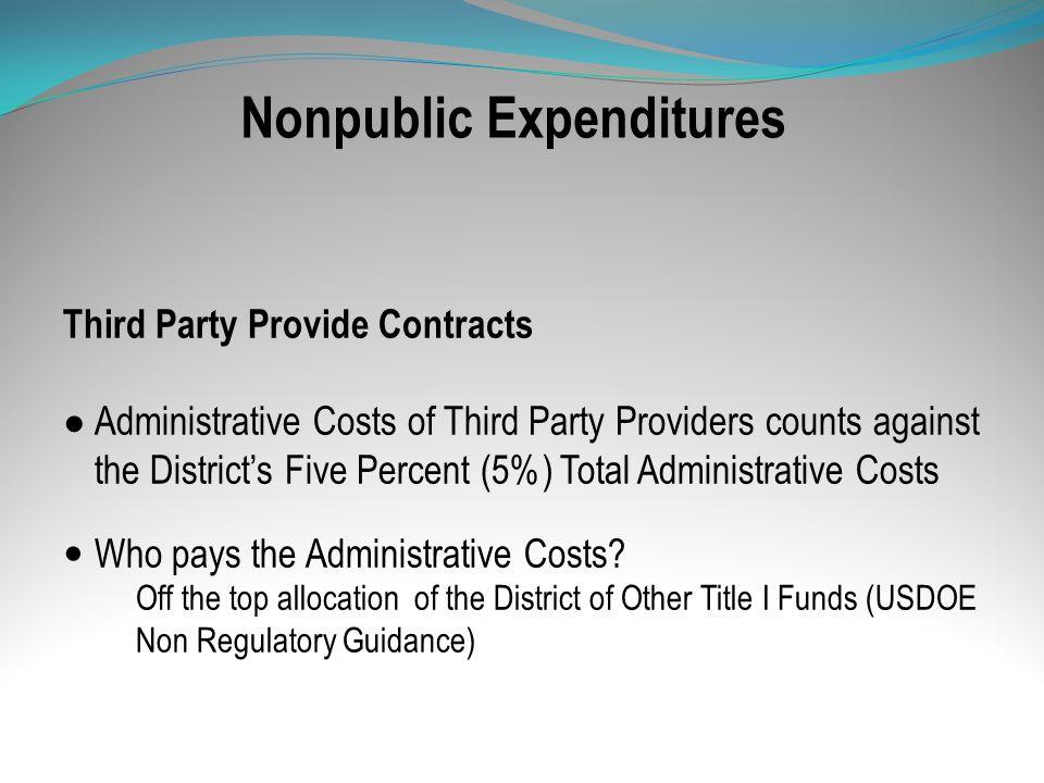 Nonpublic Expenditures