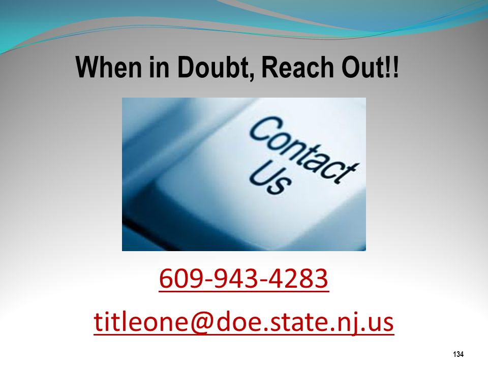 609-943-4283 titleone@doe.state.nj.us