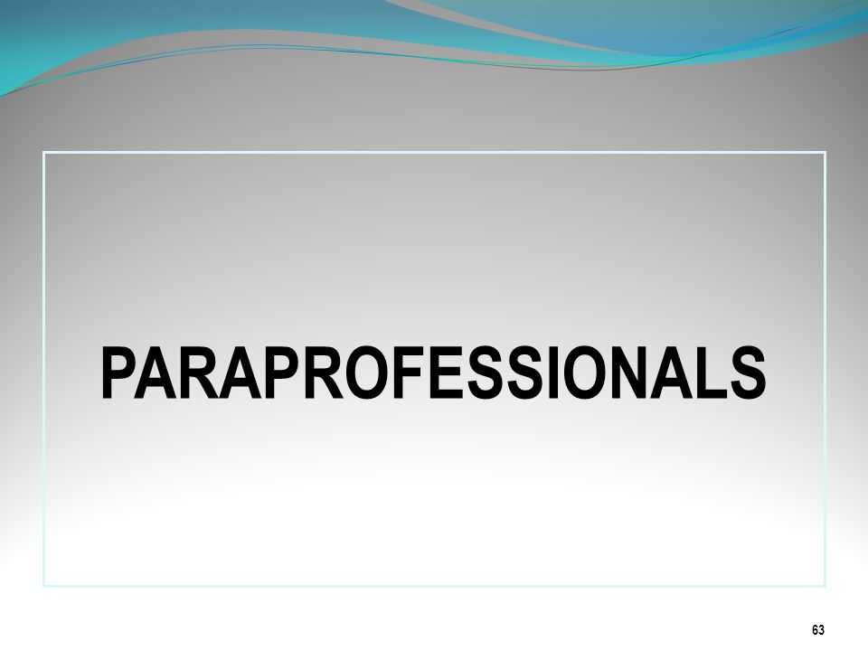 PARAPROFESSIONALS The next series of slides will provide information related to paraprofessionals according to the NCLB Act of 2001.