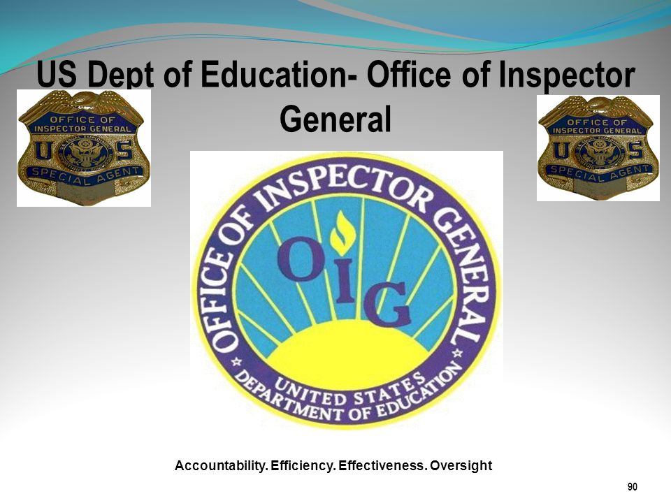 US Dept of Education- Office of Inspector General