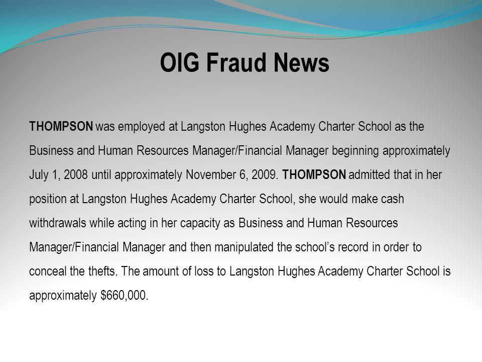 OIG Fraud News