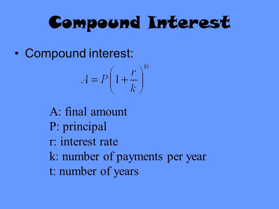 Today in Precalculus Turn in graded worksheet ppt video online – Compound Interest Worksheet
