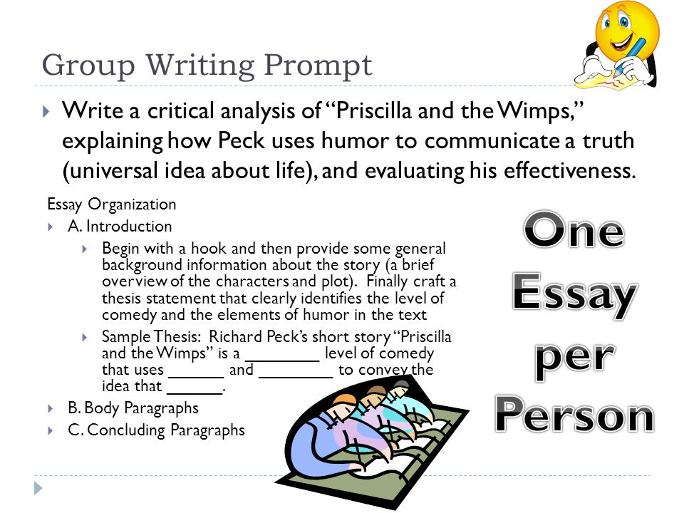 priscilla and the wimps ppt video online  one essay per person group writing prompt