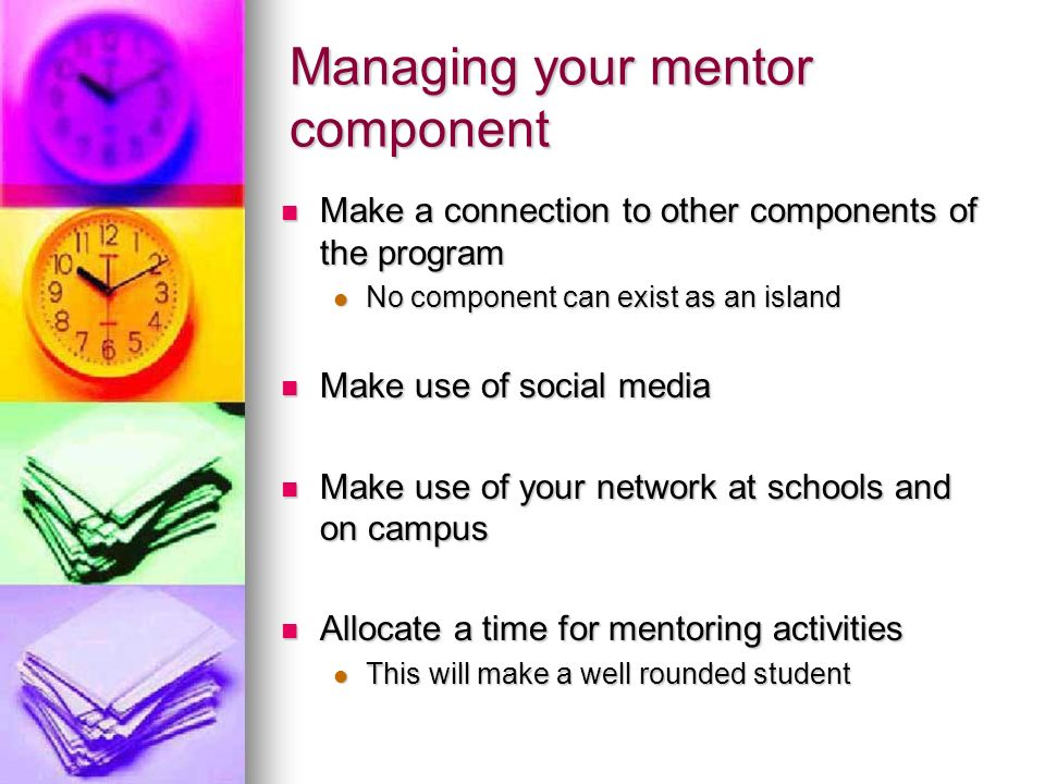 Managing your mentor component