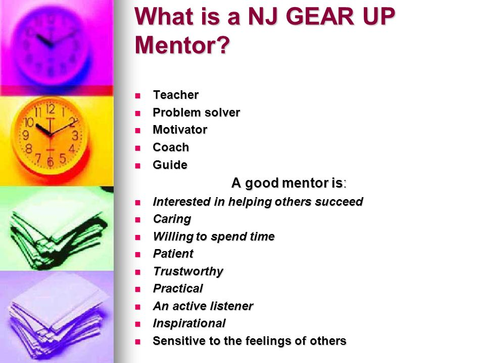What is a NJ GEAR UP Mentor