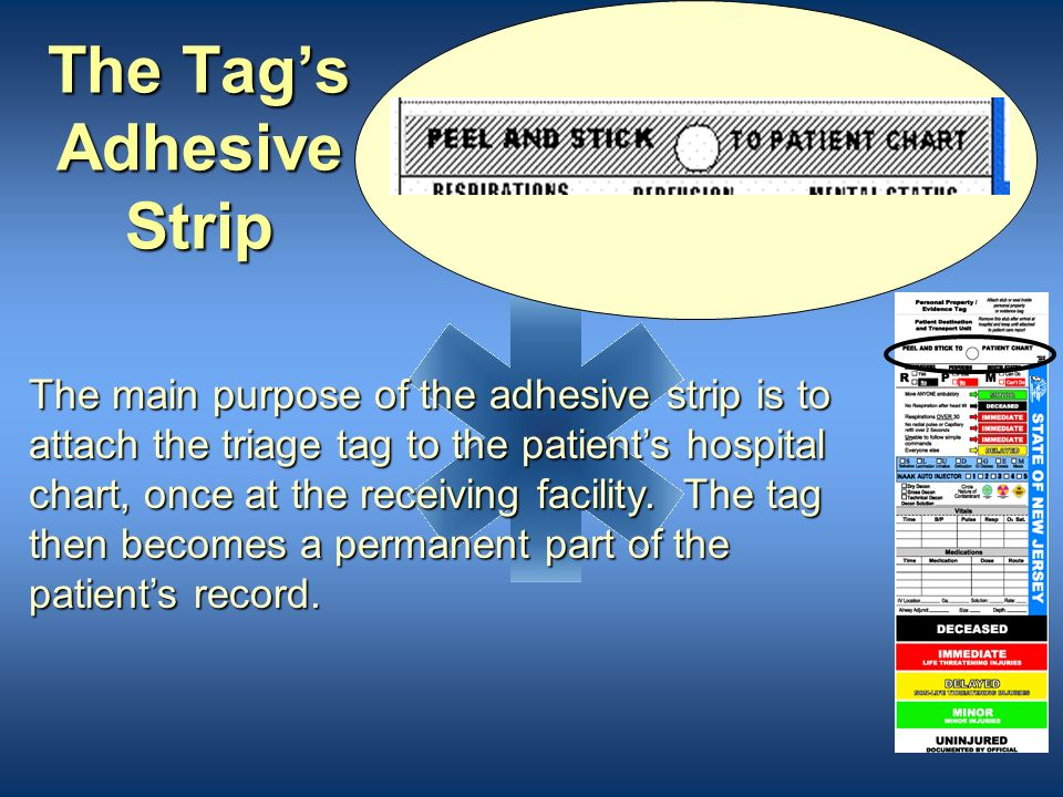 The Tag's Adhesive Strip