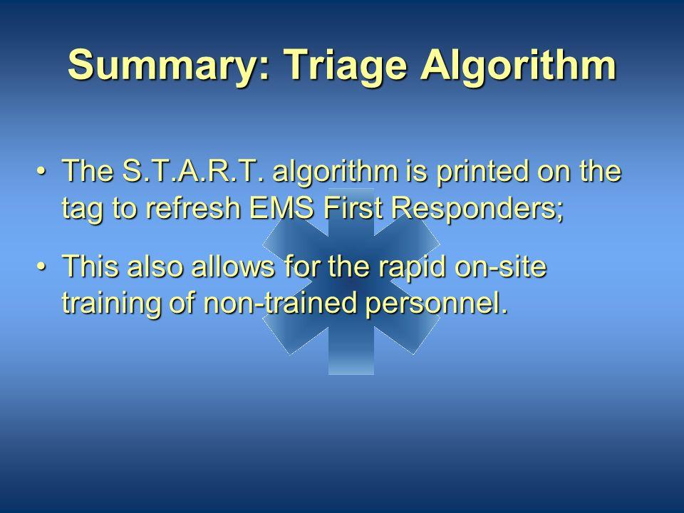 Summary: Triage Algorithm