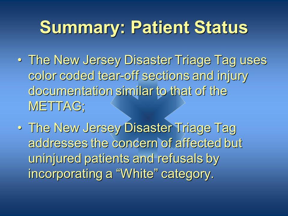 Summary: Patient Status