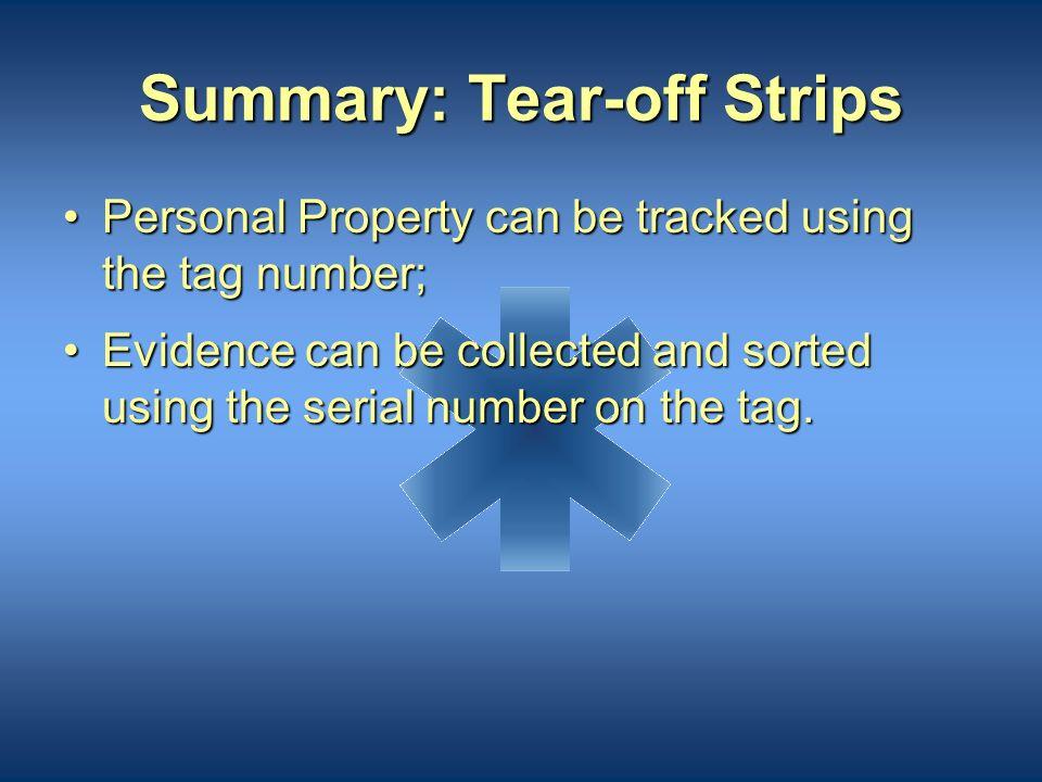 Summary: Tear-off Strips