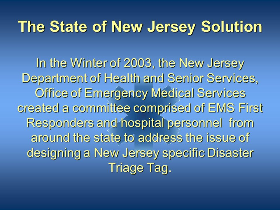 The State of New Jersey Solution