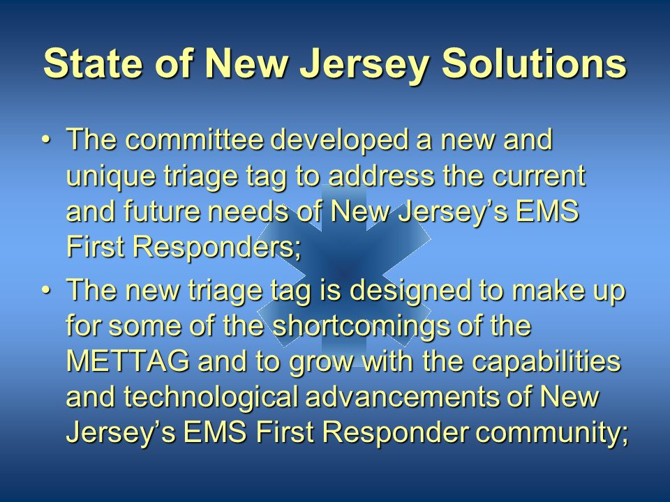 State of New Jersey Solutions