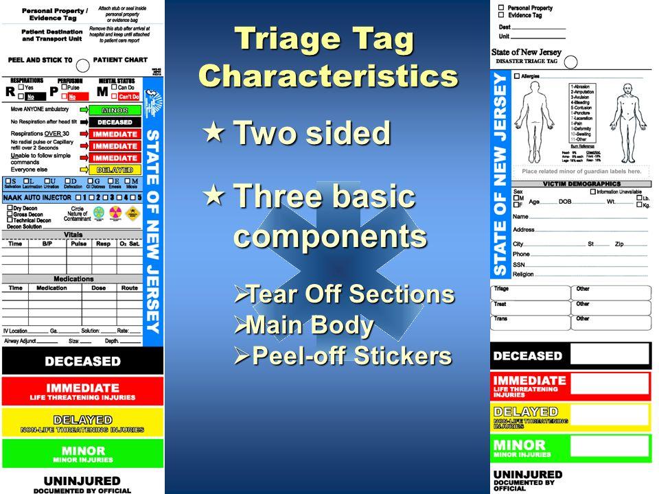 Triage Tag Characteristics