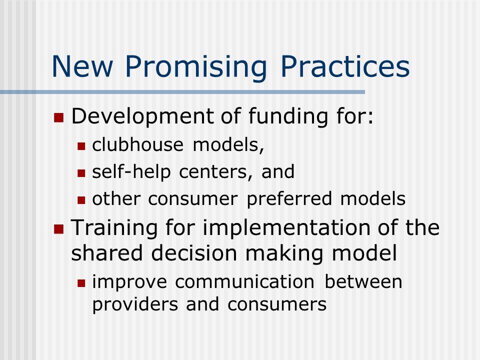 New Promising Practices