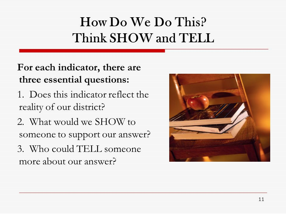 How Do We Do This Think SHOW and TELL
