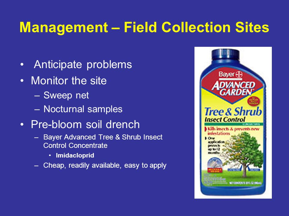 Management – Field Collection Sites