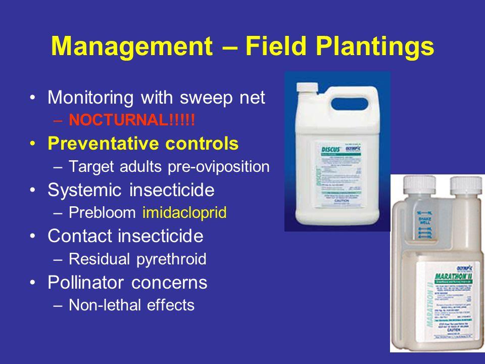 Management – Field Plantings