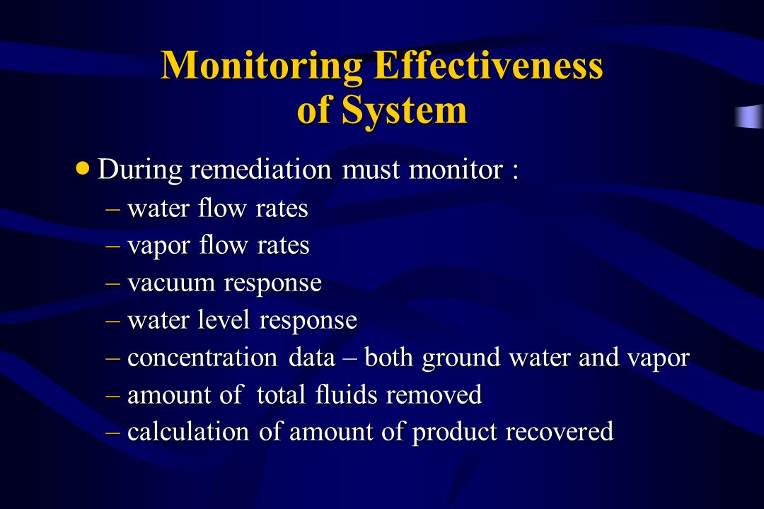 Monitoring Effectiveness of System