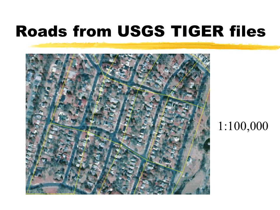 Roads from USGS TIGER files
