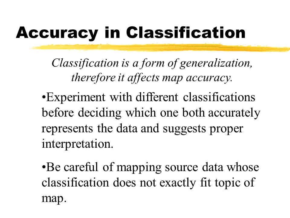 Accuracy in Classification