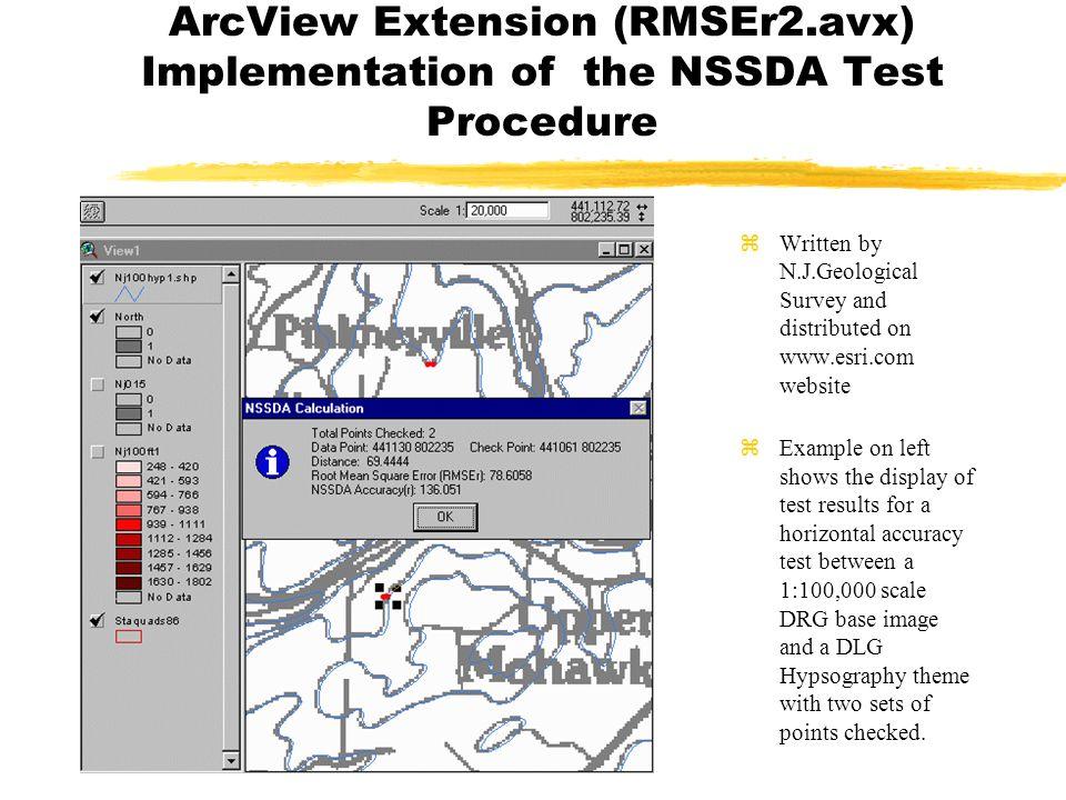 ArcView Extension (RMSEr2