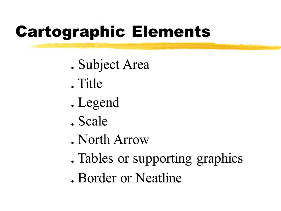 Cartographic Elements