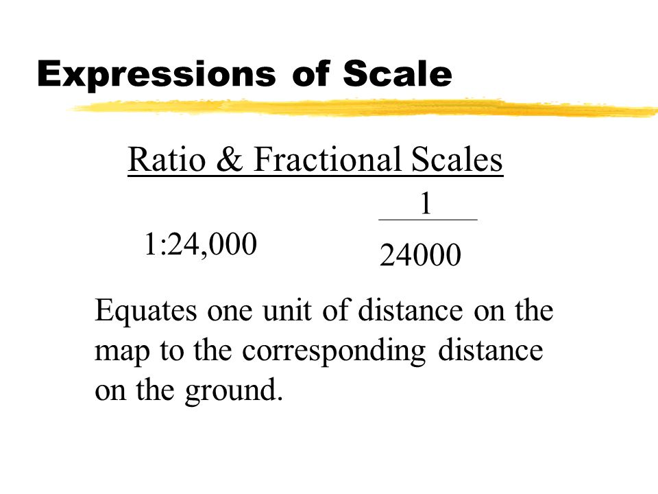Ratio & Fractional Scales