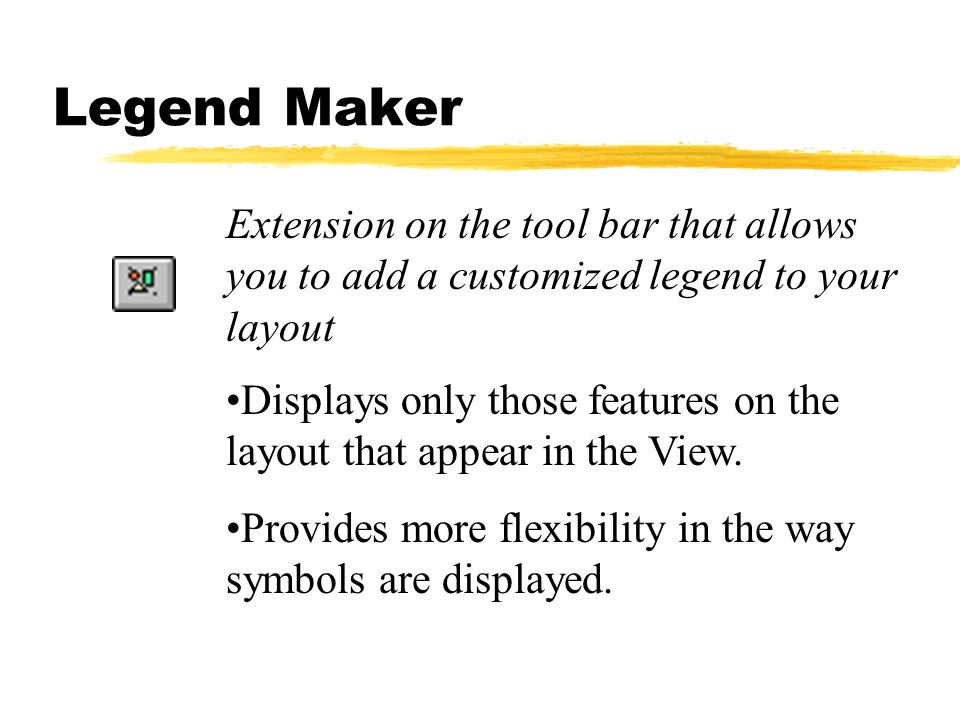 Legend Maker Extension on the tool bar that allows you to add a customized legend to your layout.