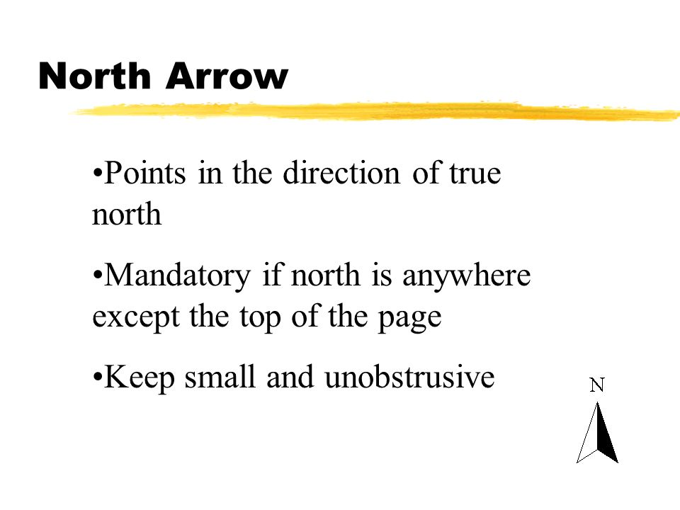 North Arrow Points in the direction of true north
