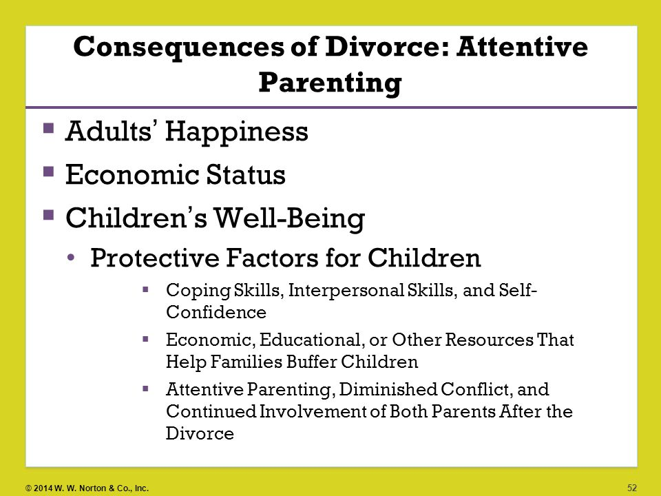 an analysis of the effects of parental divorce on the children Divorcing parents want to reduce the impact on their children, whether the   have filled volumes studying and analyzing the effect of divorce on children  studies.