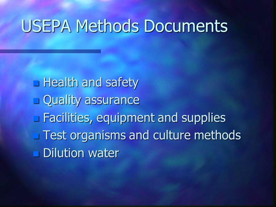 USEPA Methods Documents