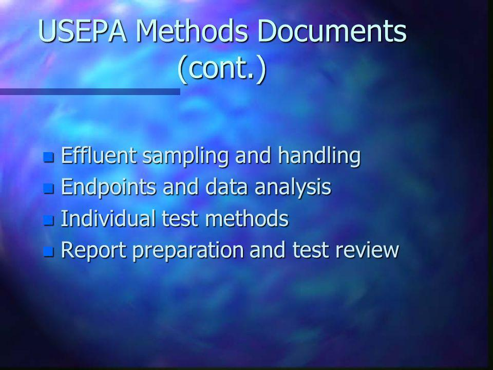 USEPA Methods Documents (cont.)