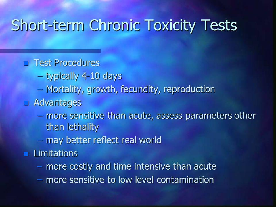Short-term Chronic Toxicity Tests