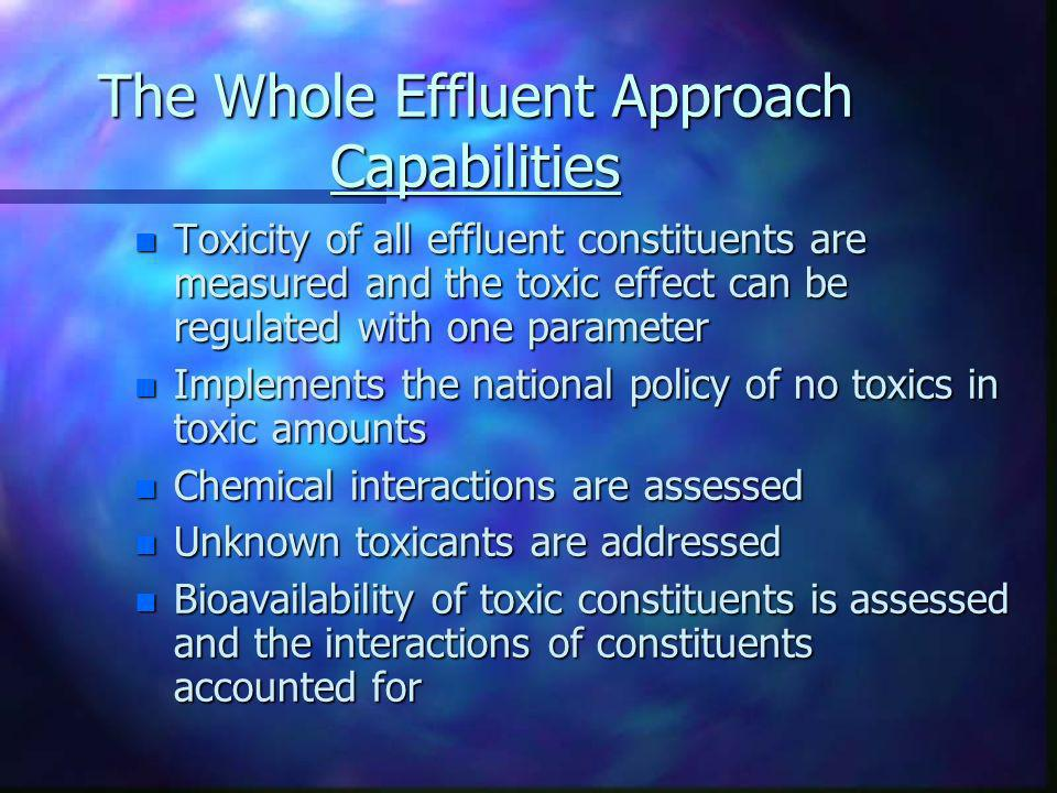 The Whole Effluent Approach Capabilities