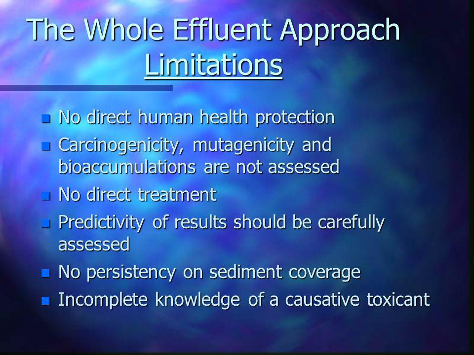 The Whole Effluent Approach Limitations