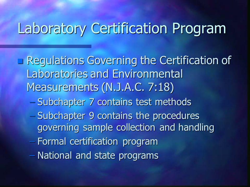 Laboratory Certification Program