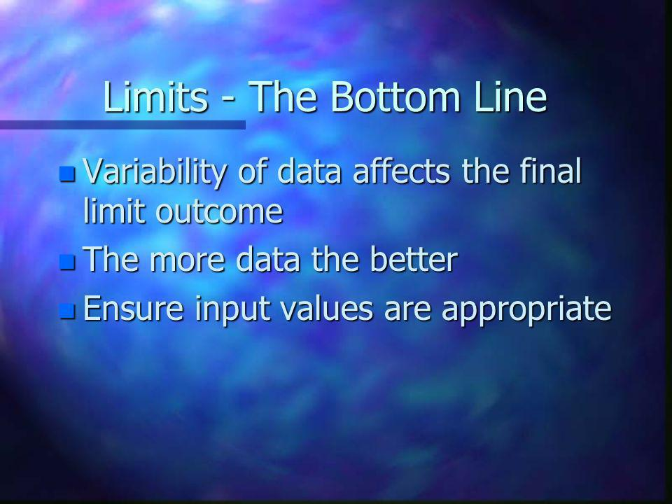 Limits - The Bottom Line