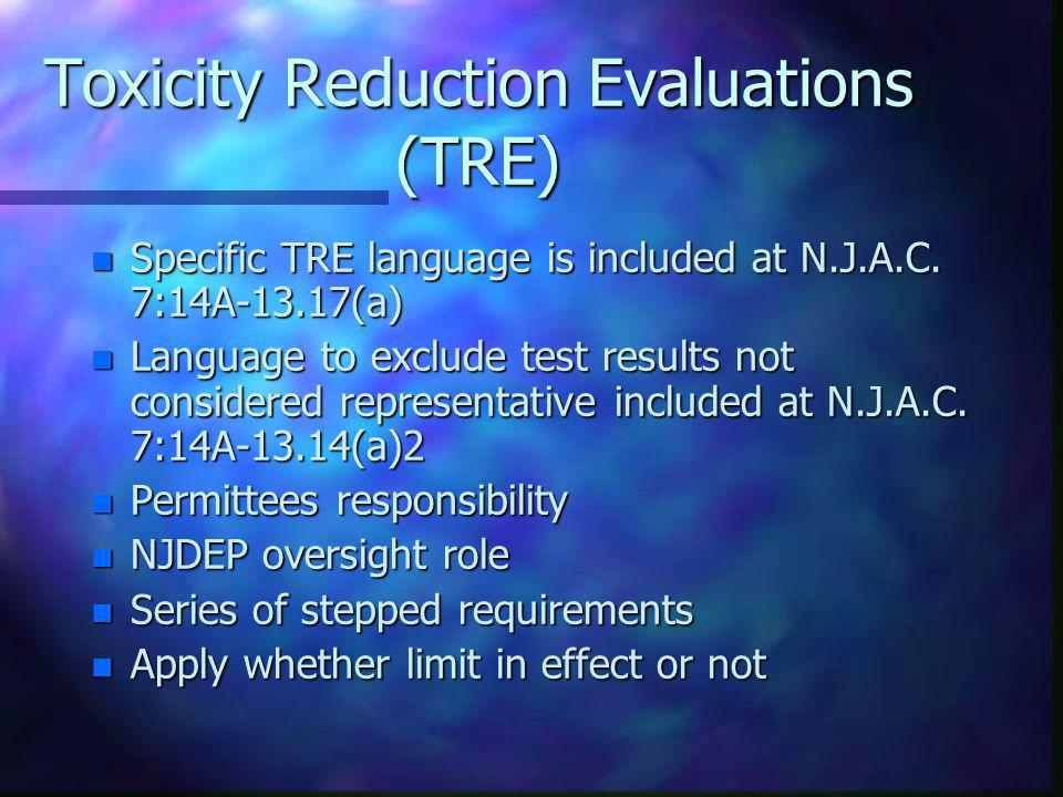 Toxicity Reduction Evaluations (TRE)