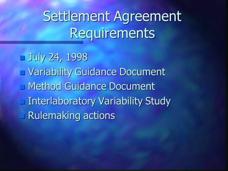 Settlement Agreement Requirements