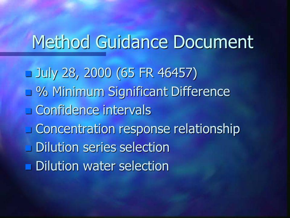 Method Guidance Document