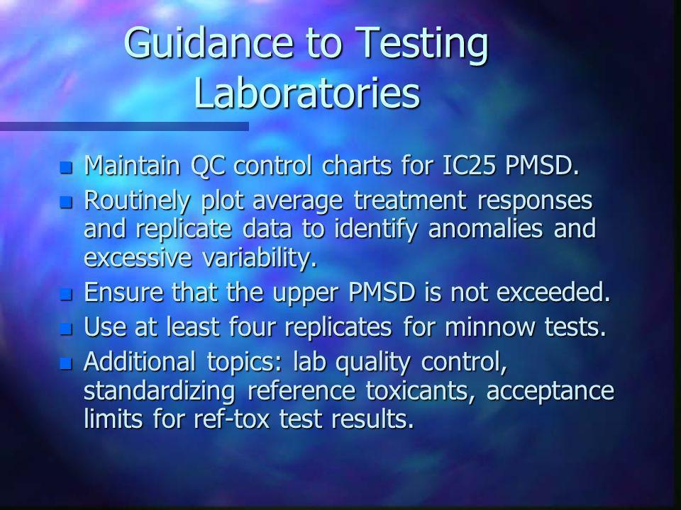 Guidance to Testing Laboratories