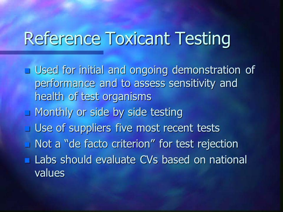 Reference Toxicant Testing
