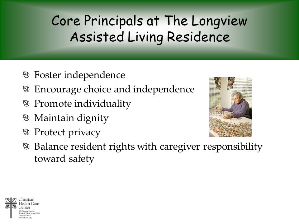 Core Principals at The Longview Assisted Living Residence