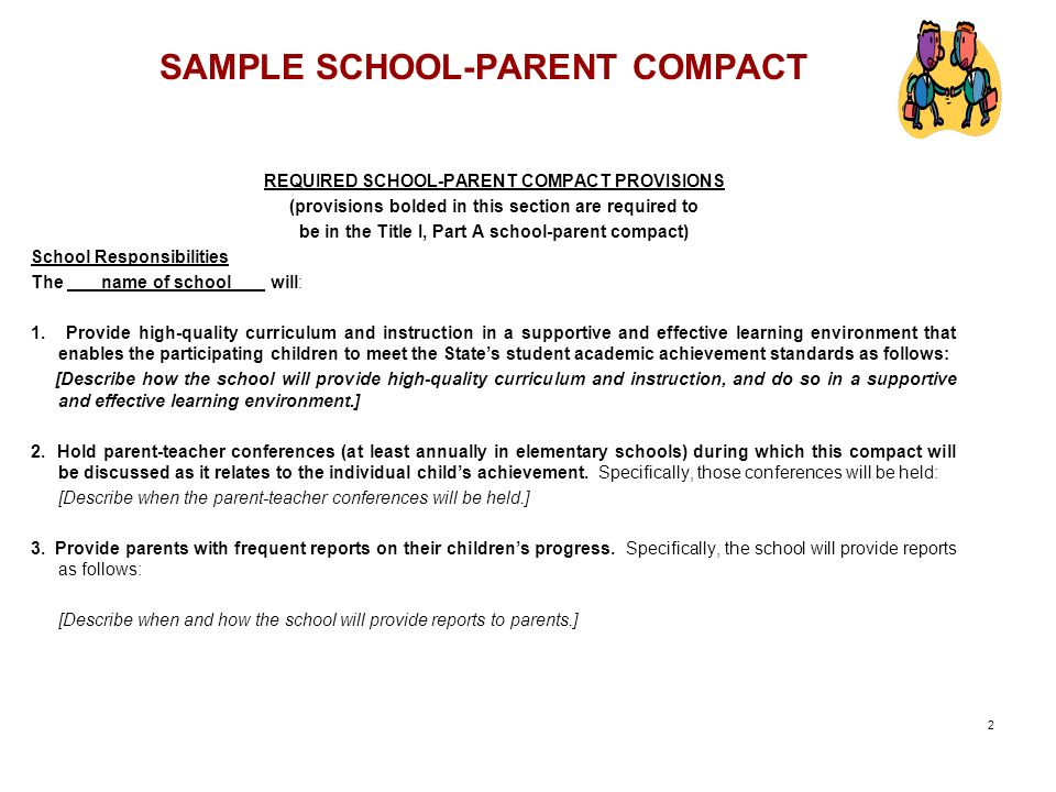 SAMPLE SCHOOL-PARENT COMPACT