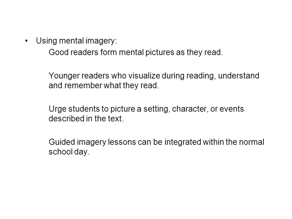 Guided imagery lessons can be integrated within the normal school day.