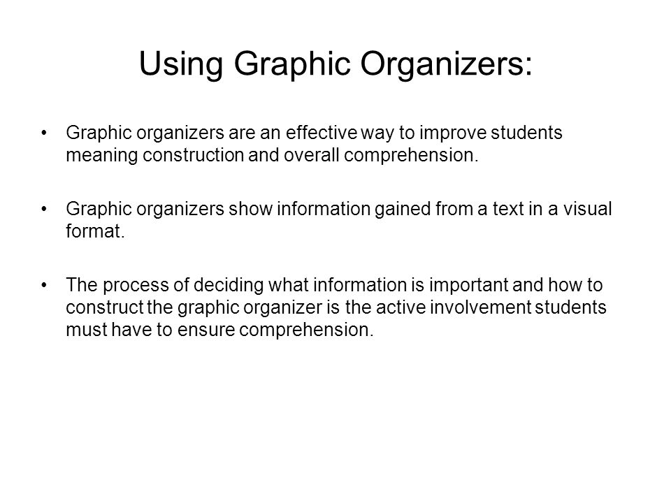 Using Graphic Organizers:
