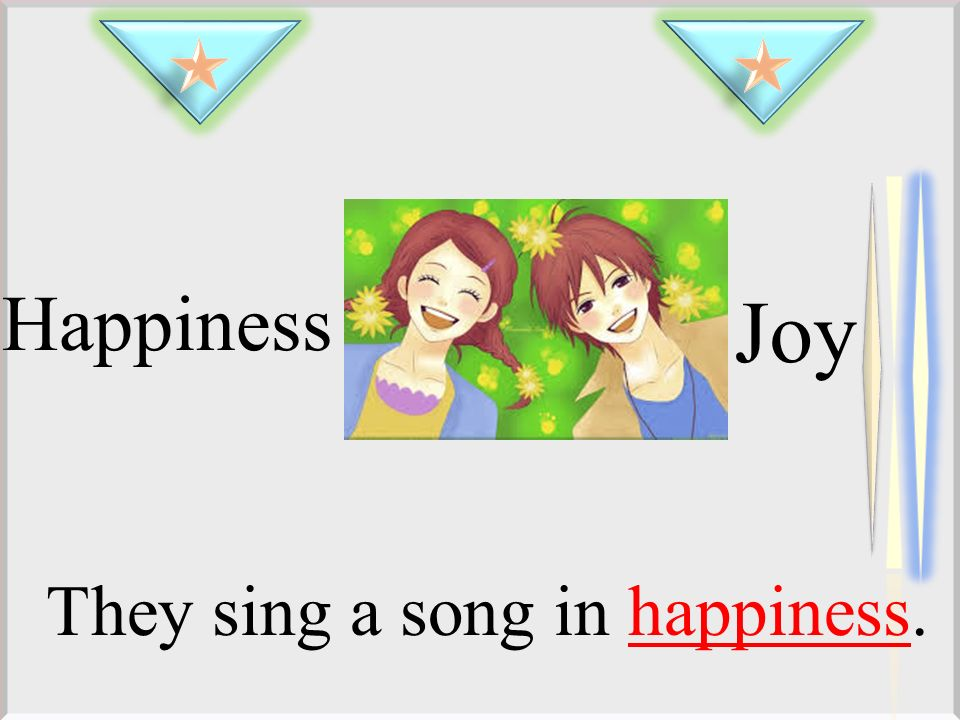 Happiness Joy They sing a song in happiness.
