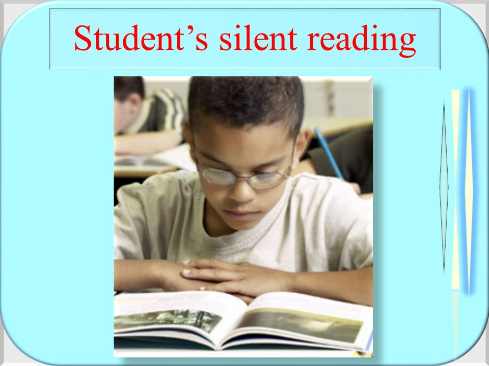 Student's silent reading